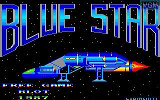 Image de l'ecran titre du jeu Blue Star sur Thomson MO6