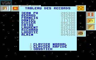 Image du menu du jeu Blue Star sur Thomson MO6