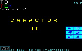 Image de l'ecran titre du jeu Caractor 2 sur Thomson TO7