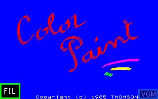 Image de l'ecran titre du jeu Color Paint sur Thomson TO7