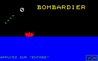 Image de l'ecran titre du jeu Bombardier sur Thomson TO7
