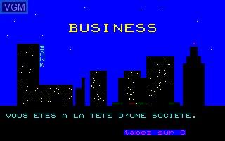 Image de l'ecran titre du jeu Business sur Thomson TO7