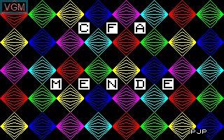 Image de l'ecran titre du jeu CFA Mende sur Thomson TO7
