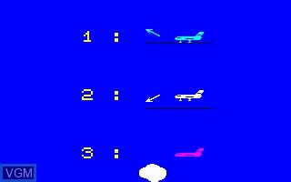 Image du menu du jeu Airbus sur Thomson TO7