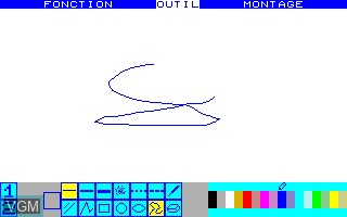 Image in-game du jeu Color Paint sur Thomson TO7