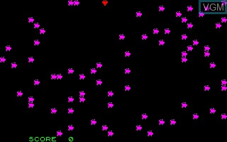 Image in-game du jeu Asteroides sur Thomson TO7