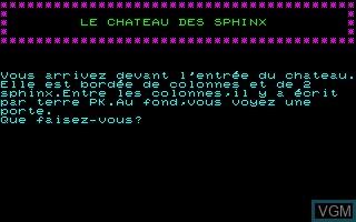 Chateau des Sphinx, Le