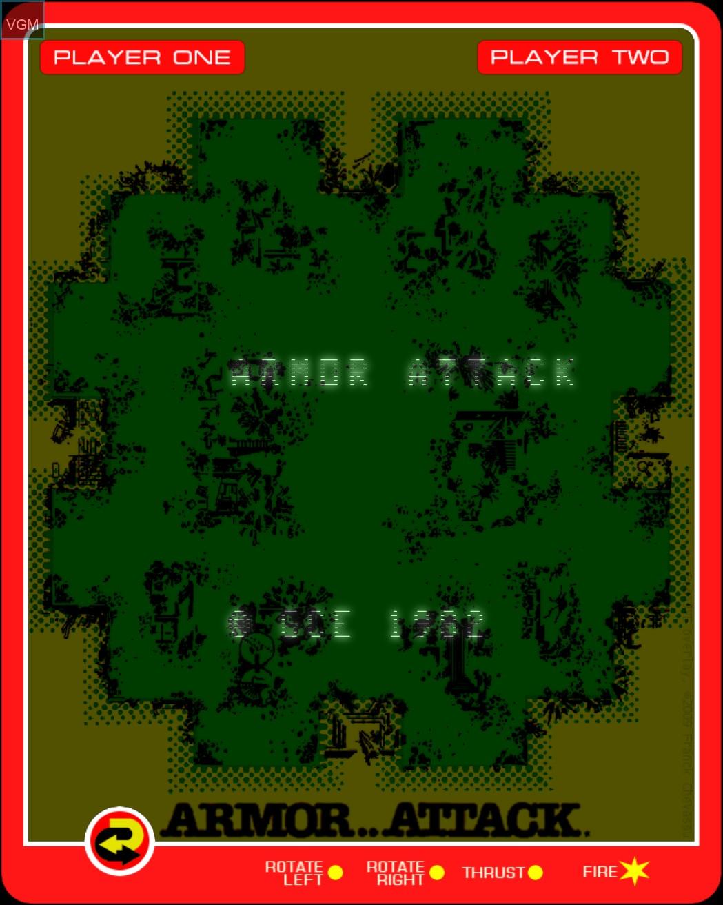 Image de l'ecran titre du jeu Armor Attack sur MB Vectrex