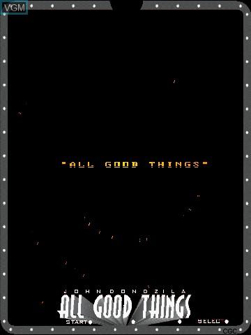 Image de l'ecran titre du jeu All Good Things by John Dondzila sur MB Vectrex