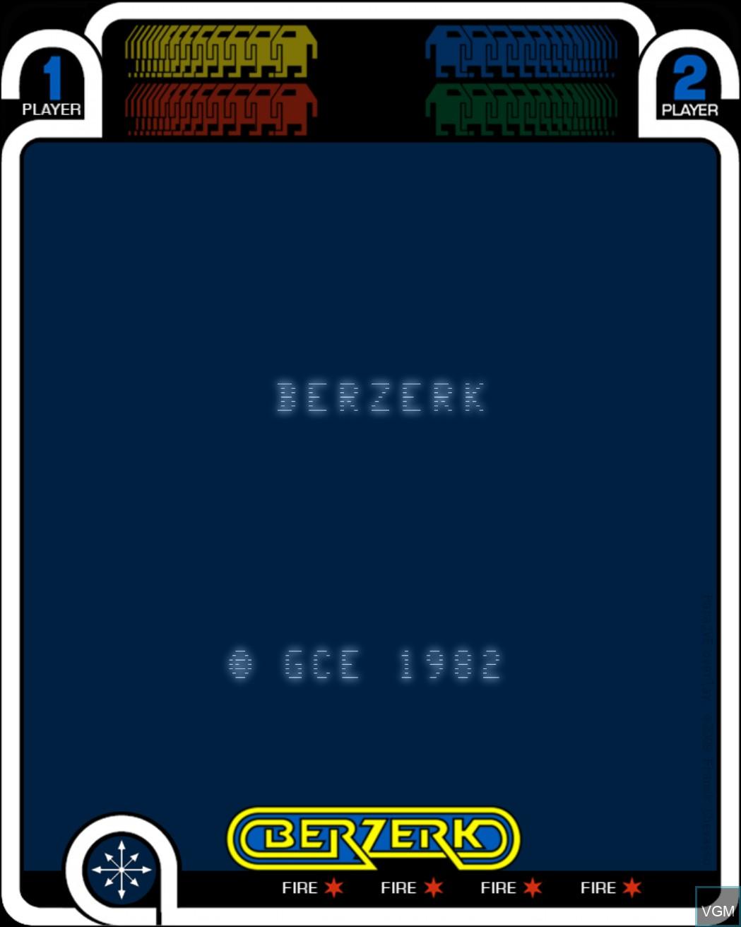 Image de l'ecran titre du jeu Berzerk sur MB Vectrex