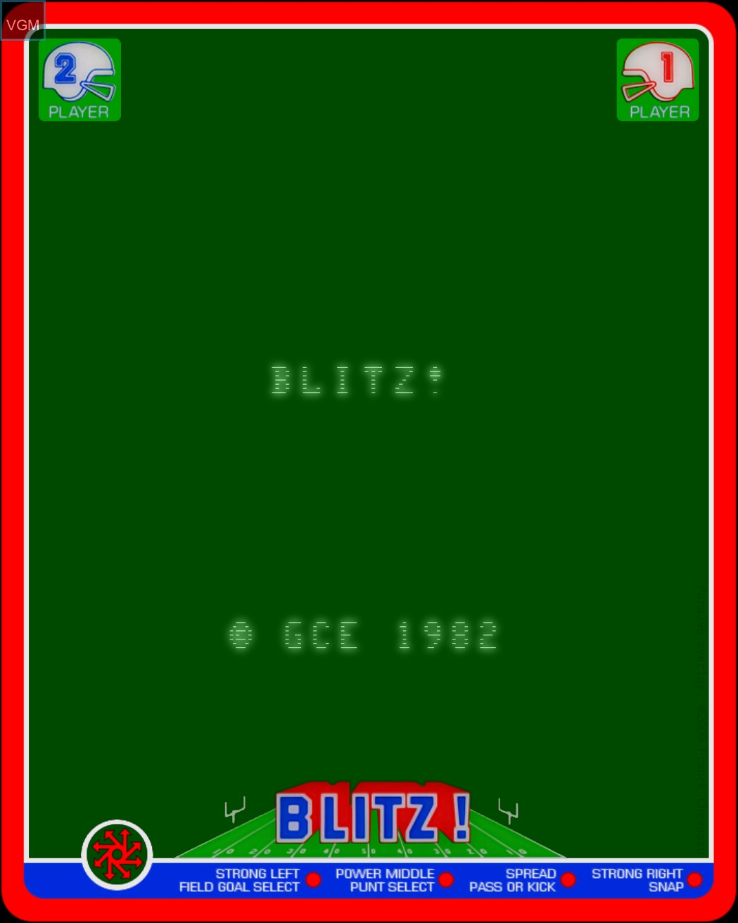 Image de l'ecran titre du jeu Blitz! - Action Football sur MB Vectrex