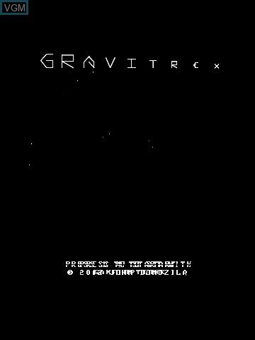 Image de l'ecran titre du jeu Gravitrex by John Dondzila sur MB Vectrex