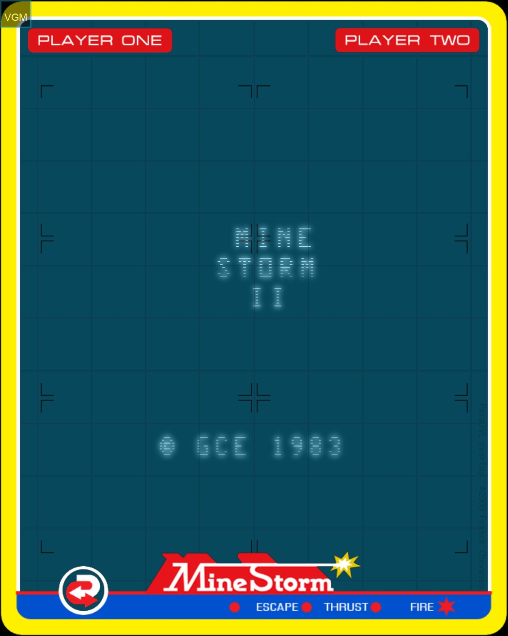 Image de l'ecran titre du jeu Mine Storm II sur MB Vectrex