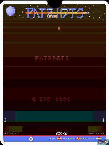 Image de l'ecran titre du jeu Patriots by John Dondzila sur MB Vectrex