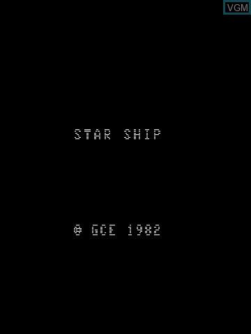 Image de l'ecran titre du jeu Star Ship sur MB Vectrex