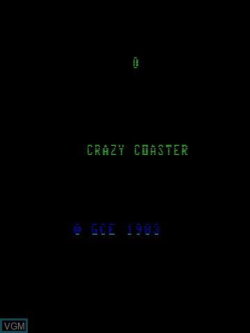 Image de l'ecran titre du jeu 3-D Crazy Coaster sur MB Vectrex
