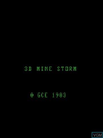 Image de l'ecran titre du jeu 3-D Mine Storm sur MB Vectrex