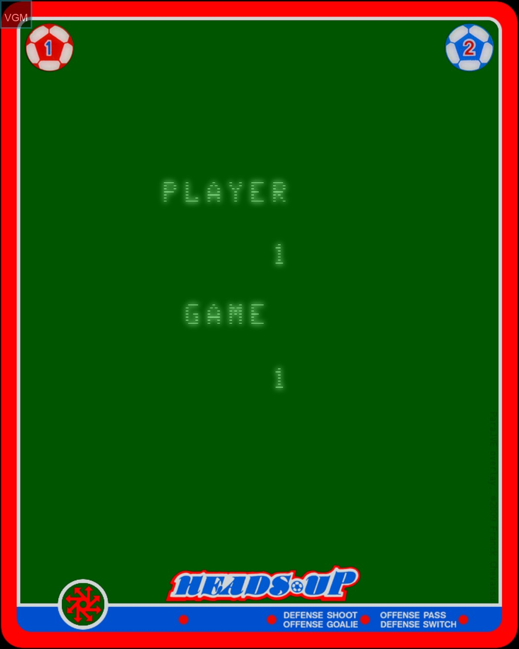 Image du menu du jeu Heads Up - Action Soccer sur MB Vectrex