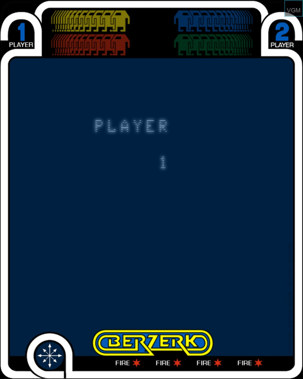 Image du menu du jeu Berzerk sur MB Vectrex