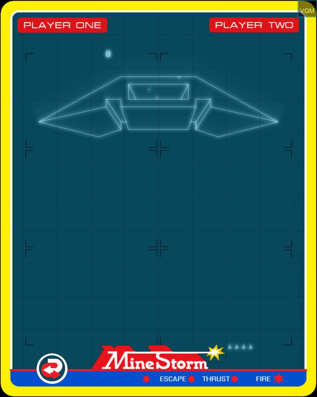 Image du menu du jeu Mine Storm II sur MB Vectrex