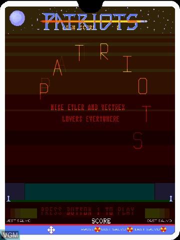 Image du menu du jeu Patriots by John Dondzila sur MB Vectrex