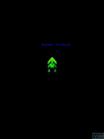 Image du menu du jeu 3-D Mine Storm sur MB Vectrex