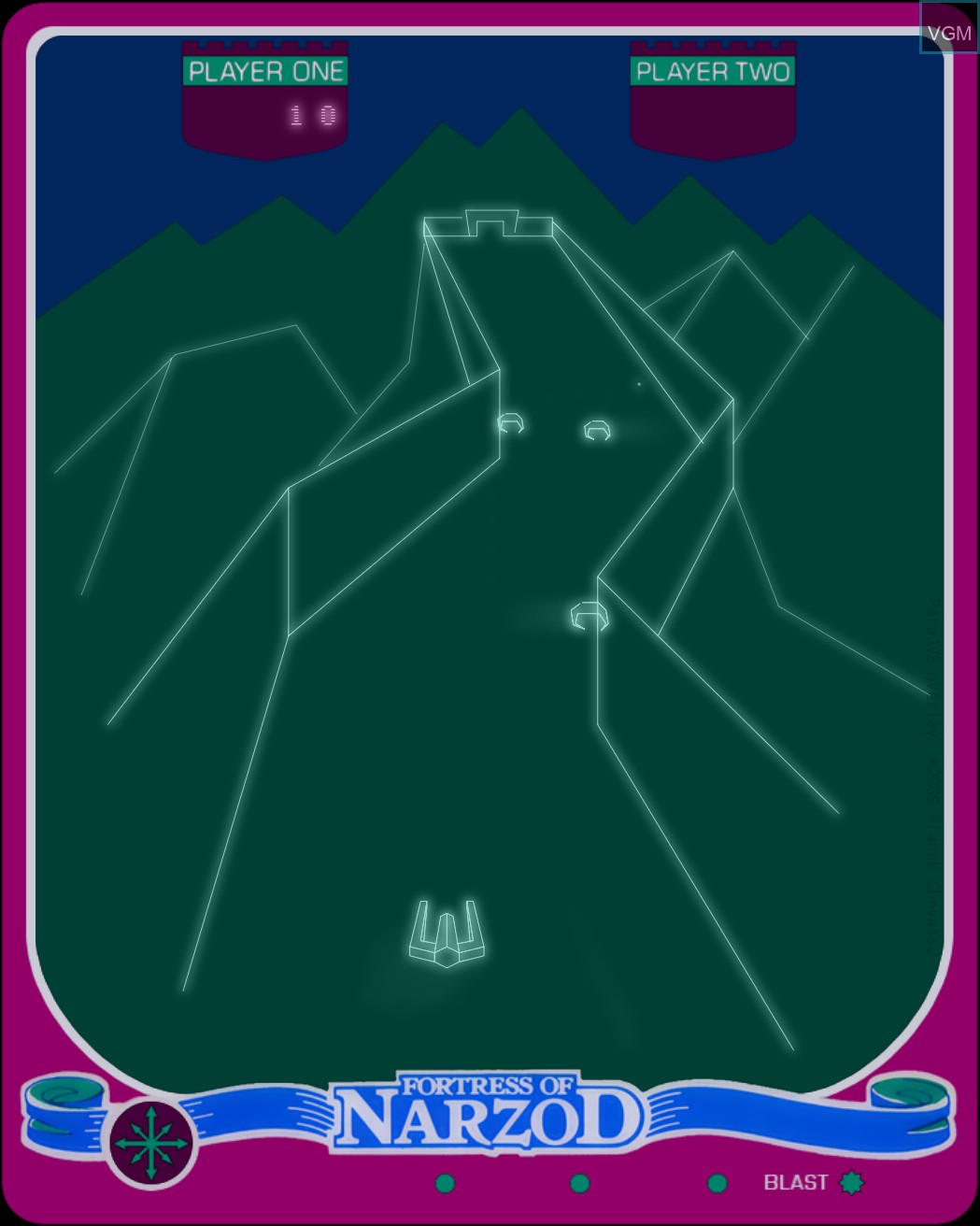 Image in-game du jeu Fortress of Narzod sur MB Vectrex