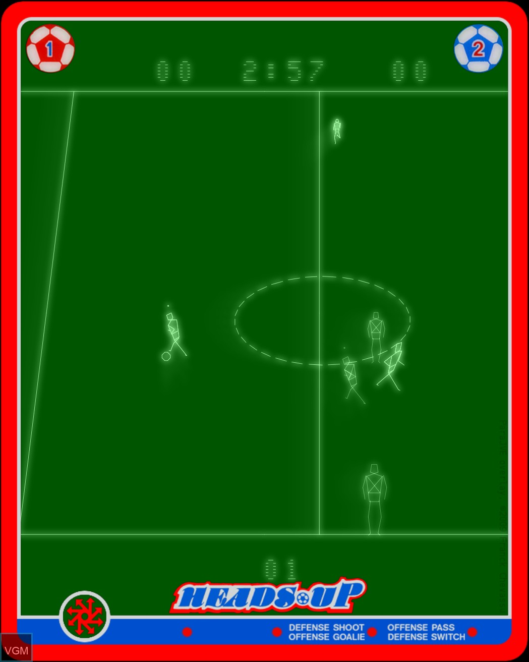 Image in-game du jeu Heads Up - Action Soccer sur MB Vectrex