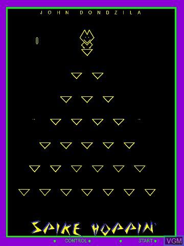 Image in-game du jeu Spike Hoppin' by John Dondzila sur MB Vectrex
