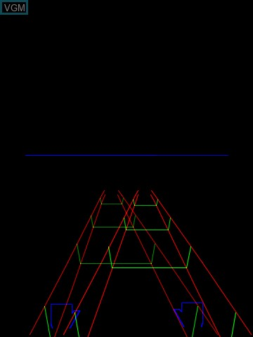 Image in-game du jeu 3-D Crazy Coaster sur MB Vectrex