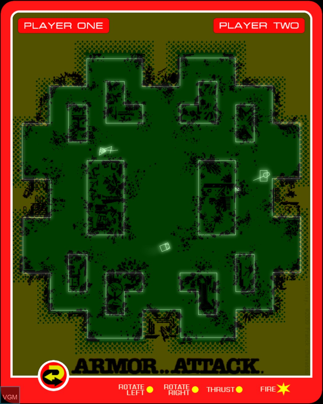 Image in-game du jeu Armor Attack sur MB Vectrex