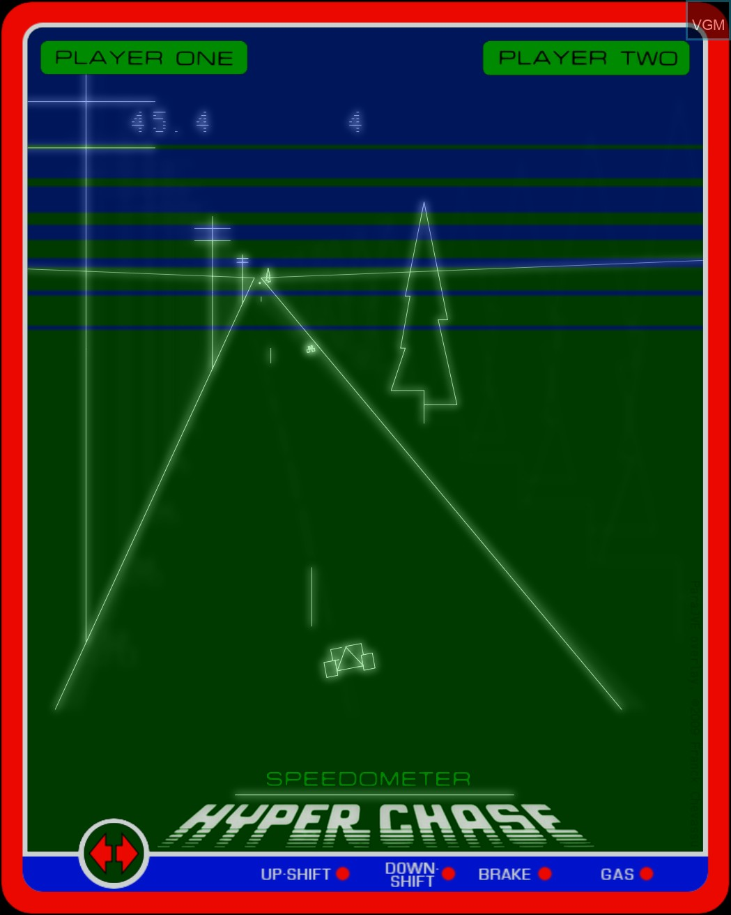 Image in-game du jeu Hyperchase sur MB Vectrex