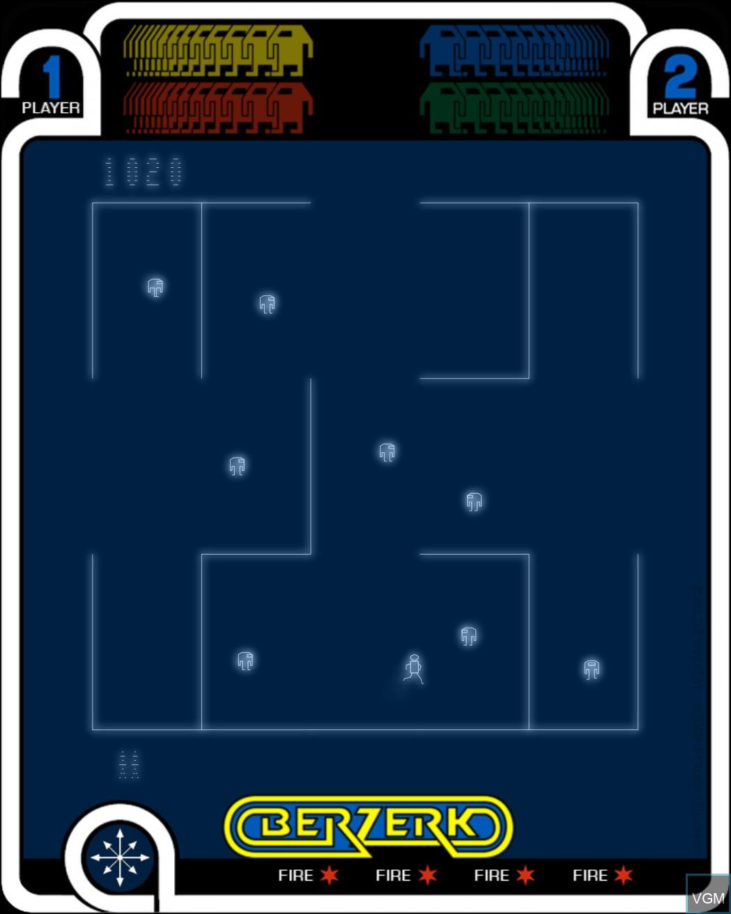 Image in-game du jeu Berzerk sur MB Vectrex
