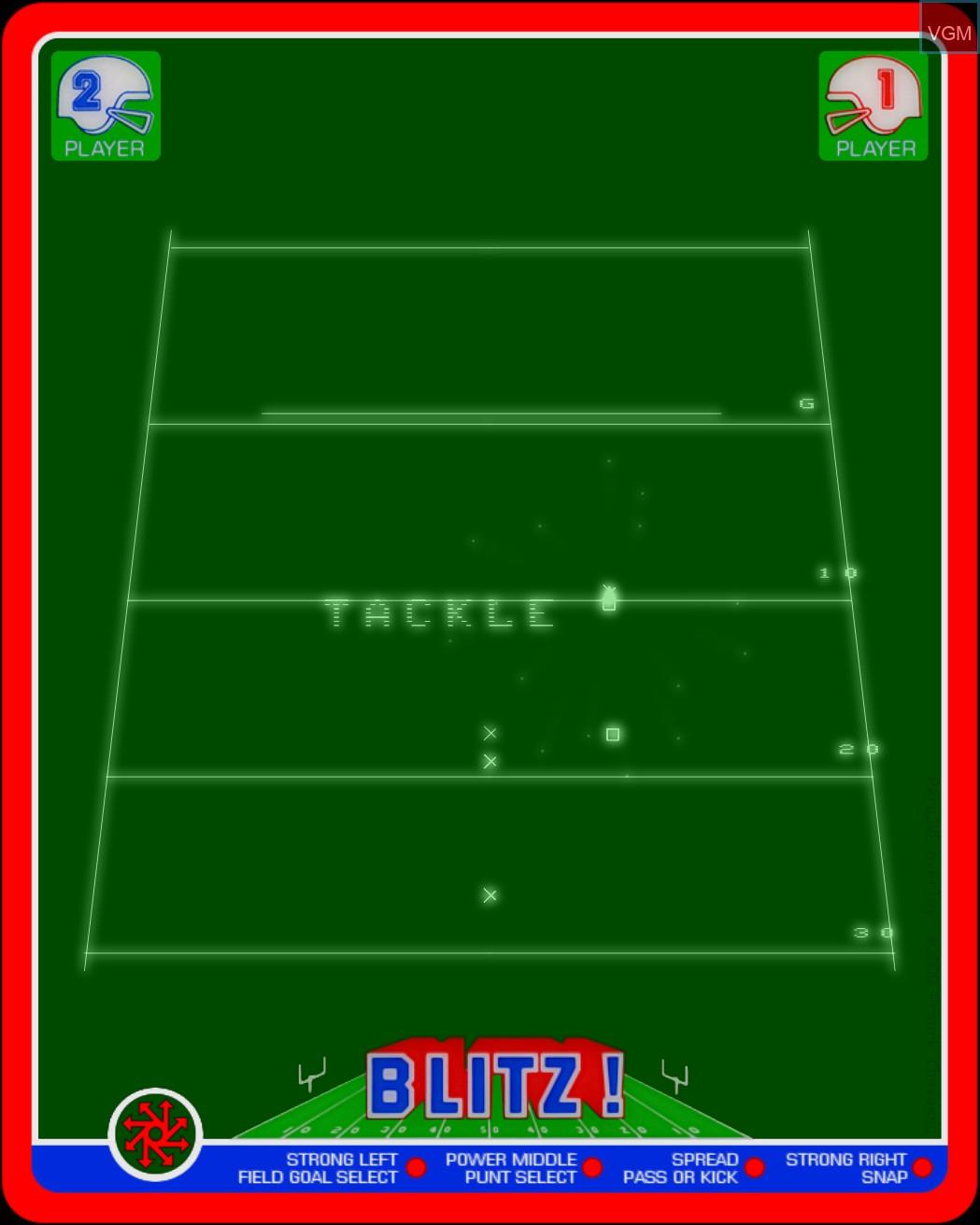 Image in-game du jeu Blitz! - Action Football sur MB Vectrex