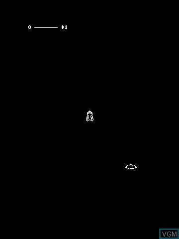 Image in-game du jeu Gravitrex by John Dondzila sur MB Vectrex