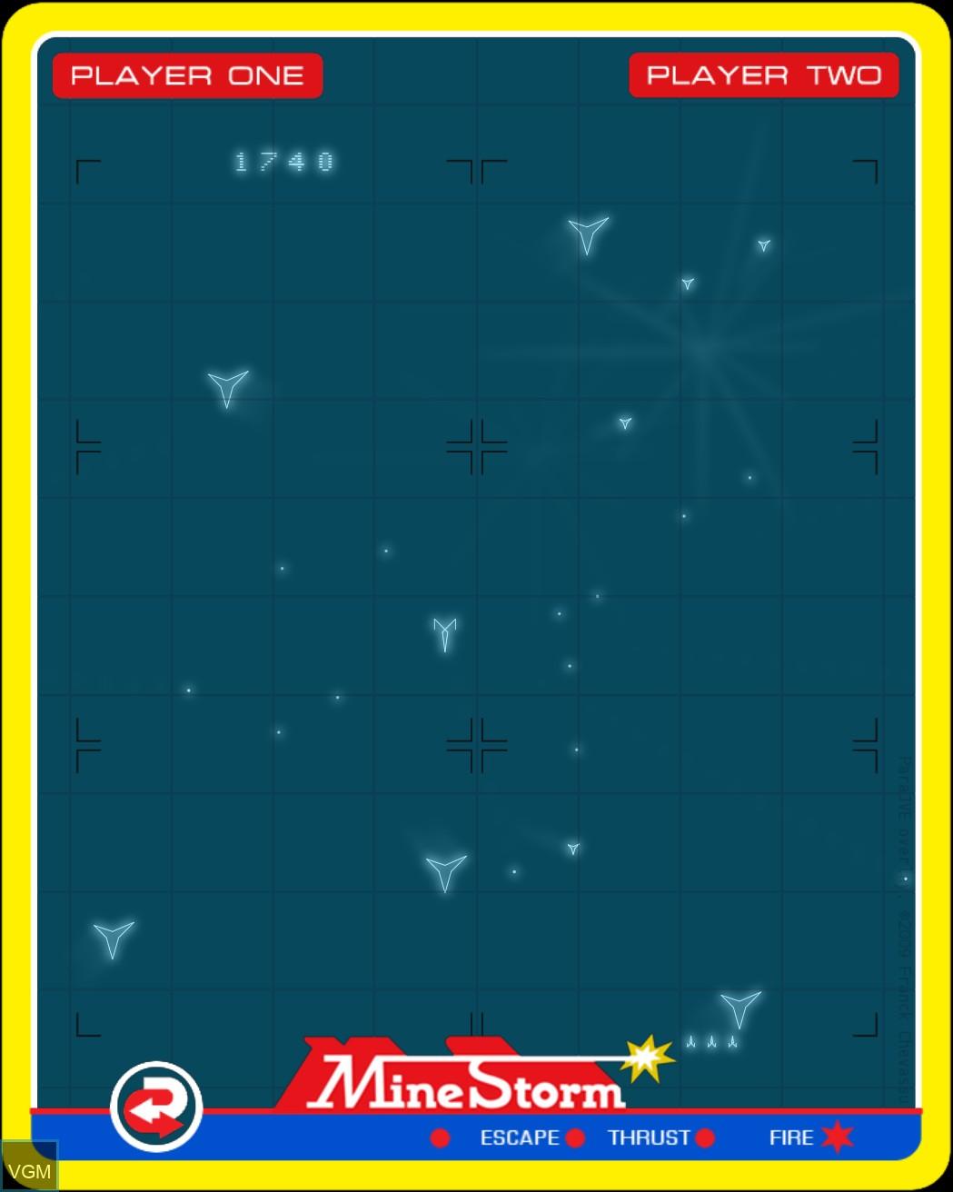 Image in-game du jeu Mine Storm II sur MB Vectrex
