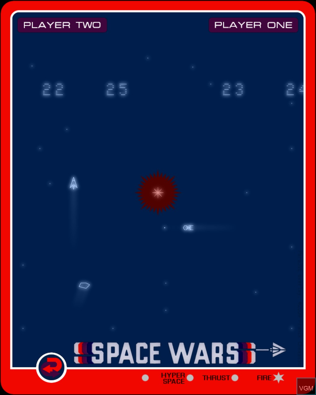 Image in-game du jeu Space Wars sur MB Vectrex