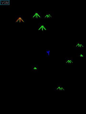 Image in-game du jeu 3-D Mine Storm sur MB Vectrex