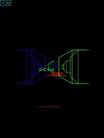 Image in-game du jeu 3-D Narrow Escape sur MB Vectrex