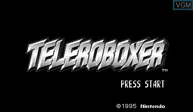Image de l'ecran titre du jeu Teleroboxer sur Nintendo Virtual Boy