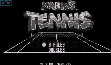 Image de l'ecran titre du jeu Mario's Tennis sur Nintendo Virtual Boy