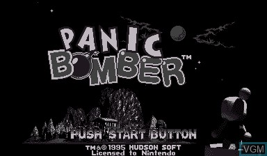 Image de l'ecran titre du jeu Panic Bomber sur Nintendo Virtual Boy