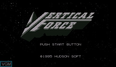 Image de l'ecran titre du jeu Vertical Force sur Nintendo Virtual Boy