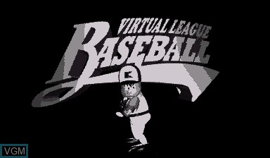 Image de l'ecran titre du jeu Virtual League Baseball sur Nintendo Virtual Boy