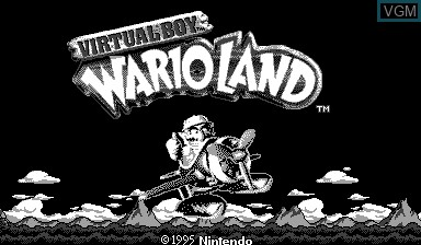 Image de l'ecran titre du jeu Virtual Boy Wario Land sur Nintendo Virtual Boy
