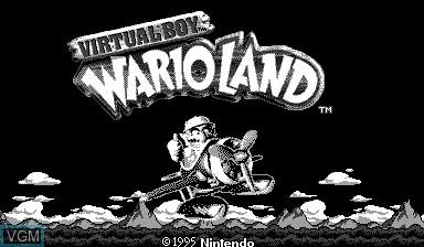 Image de l'ecran titre du jeu Virtual Boy Wario Land sur Nintendo Virtual Boy
