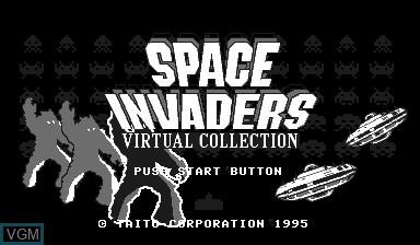 Image de l'ecran titre du jeu Space Invaders Virtual Collection sur Nintendo Virtual Boy