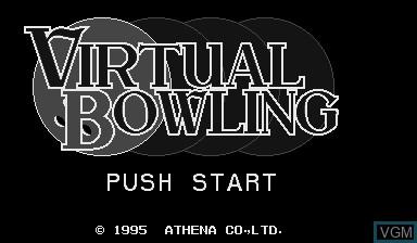 Image de l'ecran titre du jeu Virtual Bowling sur Nintendo Virtual Boy