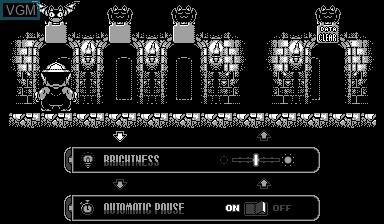 Image du menu du jeu Virtual Boy Wario Land sur Nintendo Virtual Boy