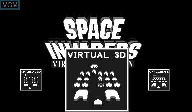 Image du menu du jeu Space Invaders Virtual Collection sur Nintendo Virtual Boy